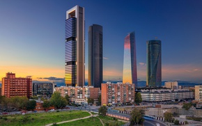 Picture skyscraper, home, Spain, Madrid