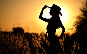 Picture girl, dance, silhouette, Mariya, country 4