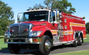 Picture fire, International, truck, 7400