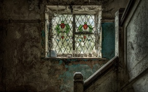 Picture interior, window, ladder