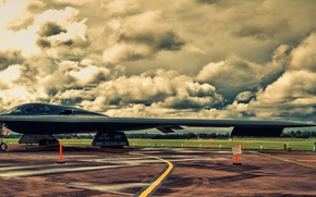 Picture bomber, the airfield, Northrop, strategic, B-2A Spirit