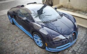 Picture Bugatti, Grand, Veyron, Blue, Sport, Supercar, Vitesse