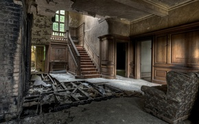 Picture house, abandoned, devastation, old, ruins