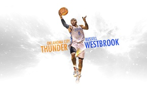 Picture Figure, White, Basketball, Background, Form, NBA, Slam Dunk, Hang, Oklahoma, Thunder, Oklahoma City, Russell Westbrook