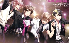 Picture joy, scene, costume, guys, bow, art, visual novel, dynamic chord, roon kashii, tsugumi momose, referring …