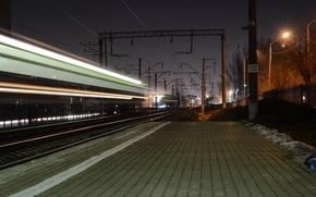 Picture night, excerpt, railroad, Rostov-on-don, the train path
