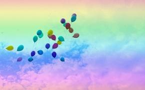 Wallpaper the sky, balls, color, Air