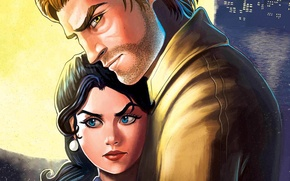 Picture look, pair, Snow White, The Wolf Among Us, Bigby, fables, Fabletown