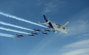 Picture flight, the plane, airbus, beluga