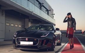 Picture auto, look, girl, Jaguar, Girls