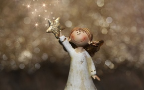 Picture stars, light, holiday, Christmas, angel