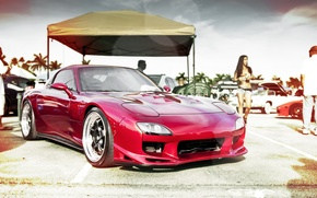 Picture car, red, red, mazda, Mazda, sports, rx8