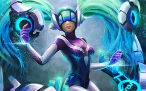 Picture fan art, sona, dj sona, League of Legends, Maven of the Strings