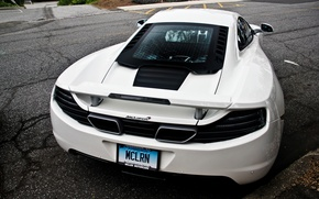 Picture supercar, Mclaren, white, road, supercar, McLaren, white, mp4, road, 12c, back