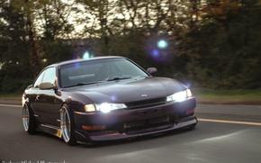 Picture Silvia, Nissan, purple, purple, S14, JDM, Stance, Rigshot, Rolling