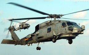 Picture Photo, UH-60, Flight, The sky, Helicopter, Black Hawk, Multipurpose, Sikorsky, Sikorsky, Landing, Height, Black, Hawk