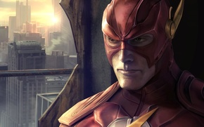 Wallpaper The Flash, fiction, mask, face, closeup, Flash, Barry Allen