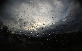 Picture drops, rain, window