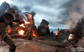 Picture game, Electronic Arts, DICE, Stormtroopers, Rebels, star wars battlefront, Drop Zone, Sallast