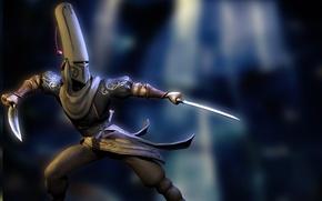 Picture warrior, costume, villain, swords, Venetica