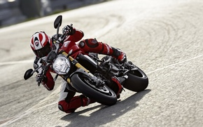 Picture red, Ducati, Monster, moto, road, bike, Legend, speed, classic, ride