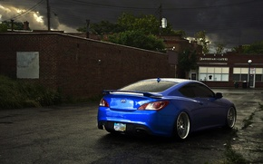 Picture blue, tuning, Hyundai, Coupe, blue, Genesis, Hyundai