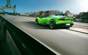 Picture tuning, speed, Lamborghini, port, car, Spyder, containers, Novitec, Torado, Huracan, novitek