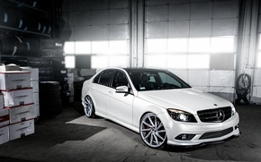 Picture wheels, Mercedes Benz, AMG, C63, frontside