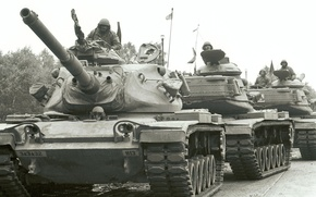 Picture soldiers, Tank, Americans, tankers