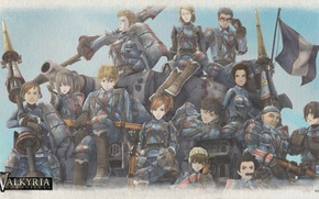 Picture playstation 3, sega, valkyria chronicles, valkyria, Valkyrie Chronicles, Squad 7, Gallia