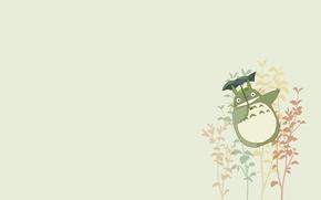 Picture minimalism, anime, art, my neighbor Totoro, totoro