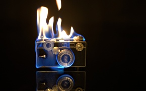 Wallpaper background, fire, camera