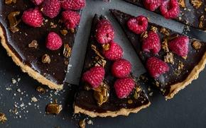 Picture raspberry, chocolate, pie, cakes