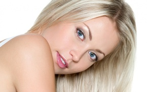 Picture face, girl photo, blonde girl Wallpaper, blue-eyed pictures