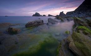 Wallpaper water, shore, Stones