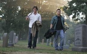 Picture smile, cemetery, the series, guys, men, supernatural, Sam, supernatural, Dean, jensen ackles, Jensen ackles, over …
