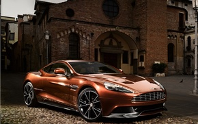 Picture background, Aston Martin, the building, supercar, the front, Aston Martin, beautiful car, AM 310, Vanquish, …