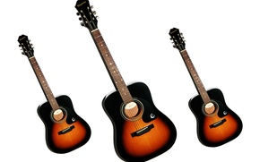Picture white, background, guitar, Gibson, Epiphone