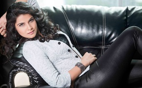 Picture sofa, actress, brunette, lies, bracelet, Indian, Manisha Shree