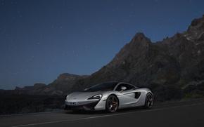 Picture McLaren, silver, silver, supercar, supercar, McLaren, 570GT