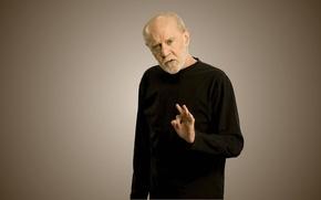 Picture comedian, atheist, George Carlin, George Carlin