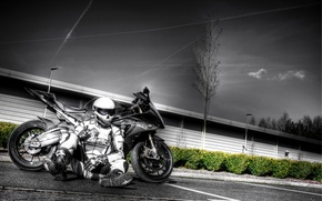 Picture sport, BMW, BMW, bike, motorcyclist, S1000RR