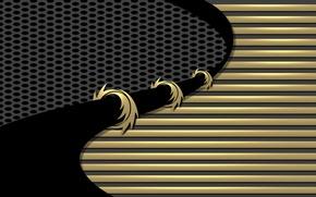 Picture line, pattern, Black, curves