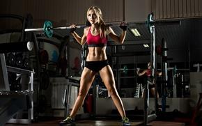 Picture fitness, bodybuilder, weight bar