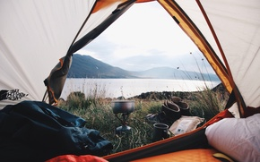 Picture nature, stay, bowler, tent