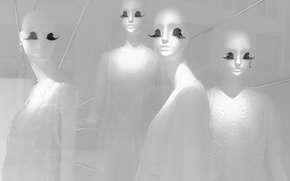 Picture background, shadow, mannequins