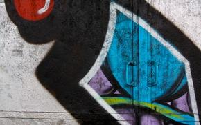 Picture colorful, graffiti, painted, metal door, handle