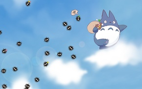 Picture the sky, clouds, anime, my neighbor Totoro, spirited away, My Neighbor Totoro, Spirited Away, Susuwatari