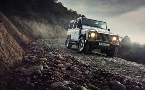 Picture Light, Land Rover, Front, 4x4, Defender, SUV, Jeep, Mountain Road