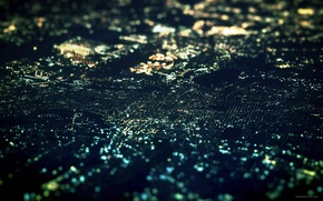 Picture night, lights, beautiful far